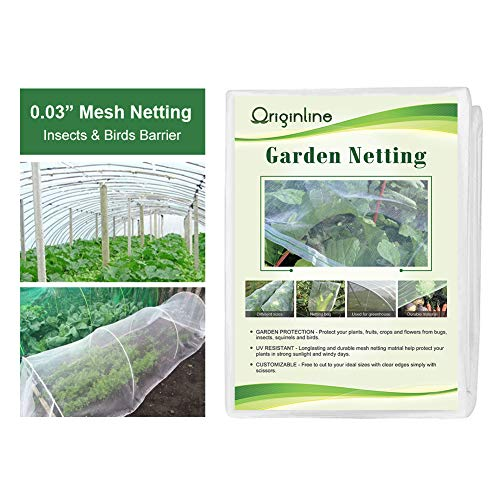 OriginA Garden Netting Insect Barrier Hunting Blind Insect Mesh Screen, 6.5'x 10', White