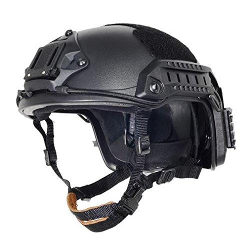 AIRSOFT OPS CORE BLACK SWAT TACTICAL MARITIME FMA ABS HELMET JUMP RAIL M/L @ HELMET WORLD by FMA