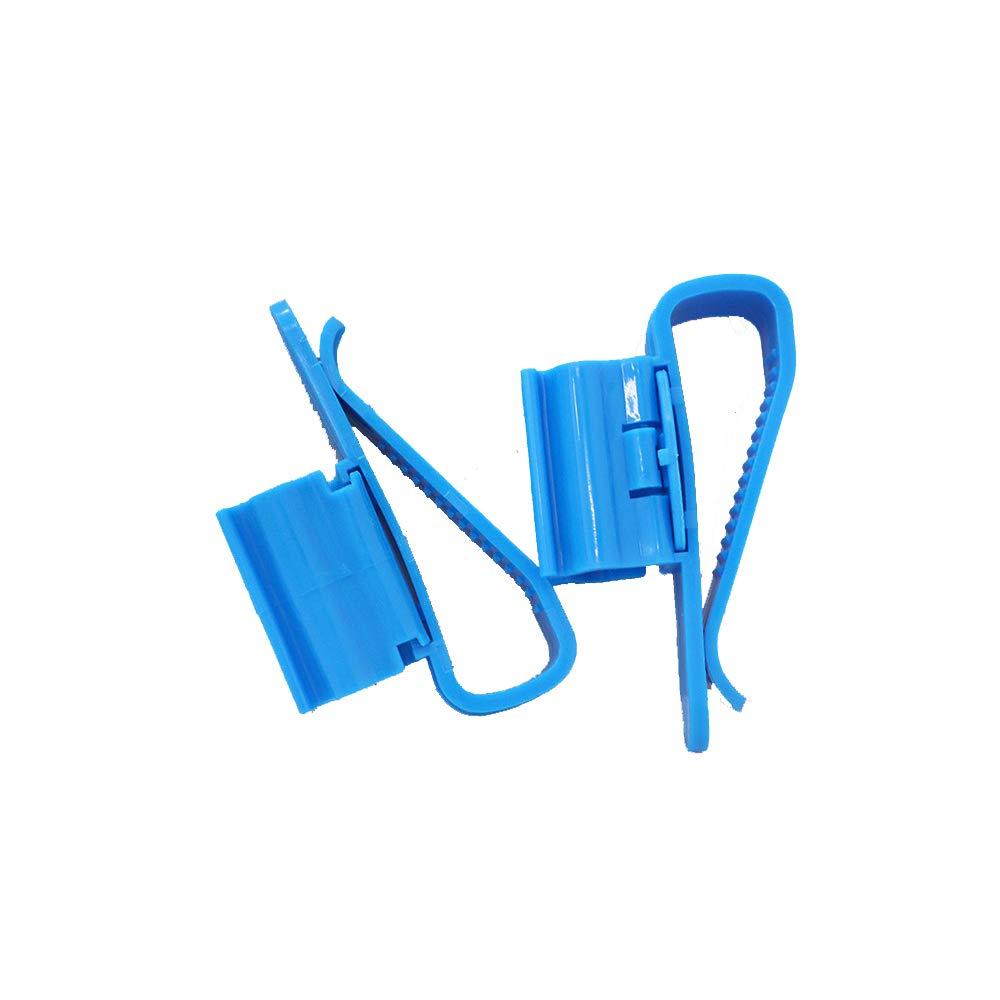 Xeminor Multifunction Plastic Adjustable Fish Tank Mounting Clip Water Pipe Tube Clamp Hose Holder 2Pcs
