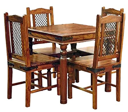 Captivating Sourav 80x80 Dining Table   TABLE ONLY   CHAIRS NOT INCLUDED