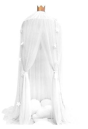Prinzessin Bett Baldachin Für Kinder, Baumwolle Moskitonetz Kinder Spielen  Zelt Zimmer Dekoration Leseecke (White