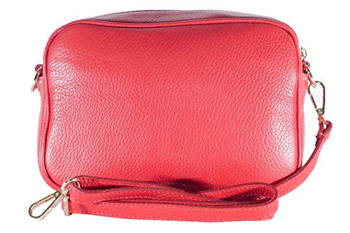 Italy In Red Leather Genuine Borderline Susi Clutch Made 100 tqxn6R