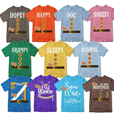Dwarfs Halloween T-Shirts Costume Prince Charming Evil Queen Birthday Costume For Groups Unisex T-shirt - Premium T-shirt - Hoodie - Sweater - Long Sleeve - Tank Top