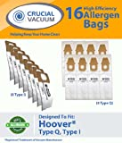 16 Hoover Platinum Combo Bags, 8 Hoover Platinum Type Q and 8 Hoover Platinum Type I High Efficiency Allergy Filtration Vacuum Bags; Compare to Hoover Platinum Part # AH10000, AH10005, Appliances for Home