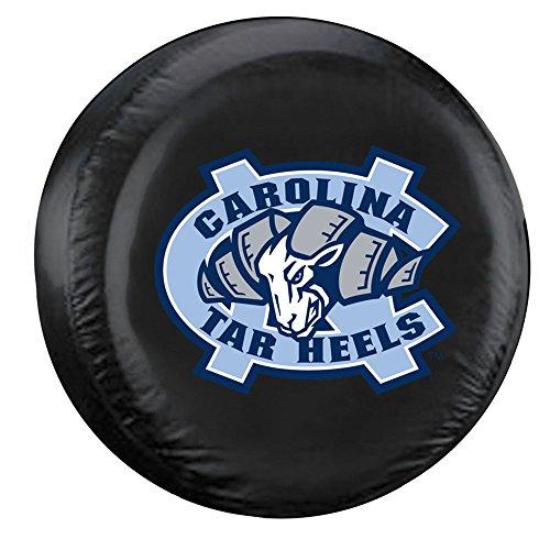 NCAA North Carolina Black Spare Tire Cover, One Size, Multicolor