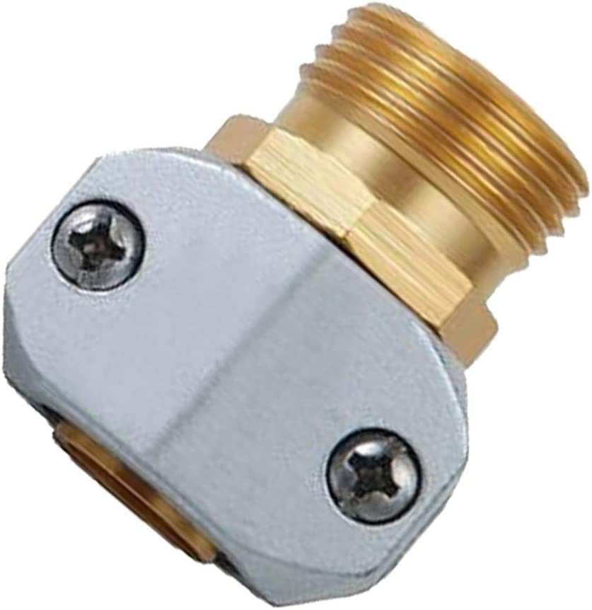 PLG Zinc & Brass Garden Hose Repair Fittings,Male Hose Connector/Replacement/Mender for All 3/4-inch or 5/8-inch Garden Hose