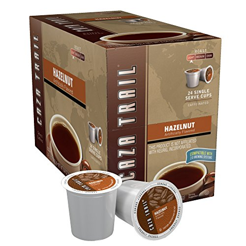 Caza Trail Coffee, Hazelnut, 24 Single Serve Cups
