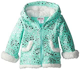 Little Lass Baby Girls' Polar Fleece Hoodie with Sparkle Foil, Aqua, 12 Months (B00MCLDLLK) | Amazon price tracker / tracking, Amazon price history charts, Amazon price watches, Amazon price drop alerts