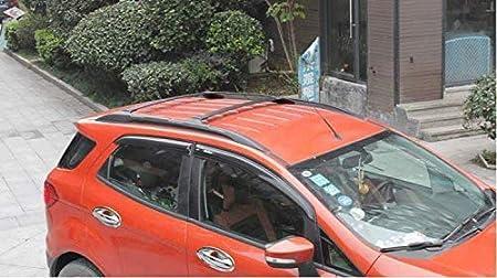 Udp 2 Stück Für Ford Ecosport 2013 2020 Schwarz Verstellbare Querstange Dachreling Gepäckträger Dachgepäckträger Auto