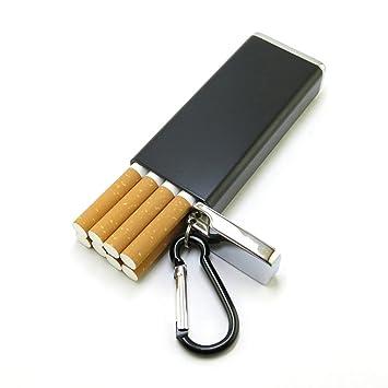 QJIAXING Caja De Cigarrillos De Bolsillo De Metal con ...