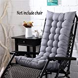 High Back Chair Cushion,Soft Home Garden Office Memory Cotton Pastoral flowers Seat Cushion Buttocks Chair Pad size 125 * 48 * 8cm (Gray,Chair Not Included)