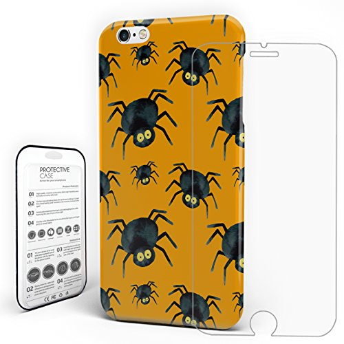 Case for Iphone 6 Plus/6s Plus Hard Plastic Protective Anti-Scratch Ultra Thin Snug-Fit Halloween Spiders on Yellow Background Cover Case for Apple 6 Plus/6s Plus ()