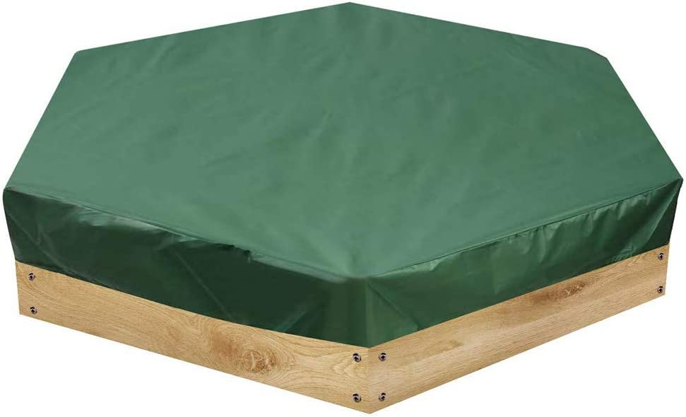 Sandbox Cover with Drawstring, Sandpit Cover Oxford Cloth Hexagon, Dustproof Waterproof Top Lid for Kid Toy, for Home Garden Outdoor Pool, To Avoid The Sand and Toys Contamination