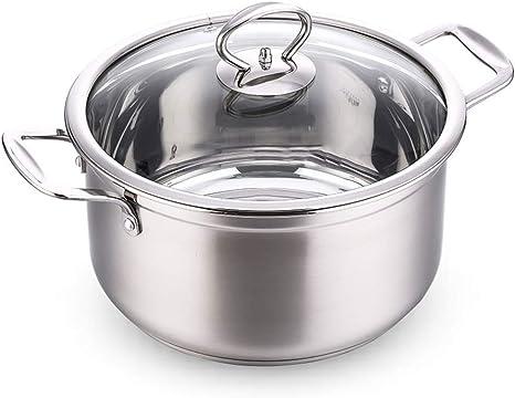 Acero inoxidable 304 Olla de sopa, Grande Olla con tapa ...