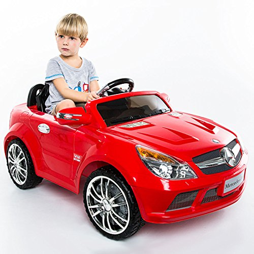 12v Battery Powered Car (Costzon Kids Ride On Car, 12V Mercedes-Benz SL65, Battery Powered With RC Parental Remote Control (Red))