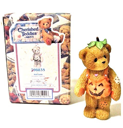 Unk Cherished Teddies Adelaide Pumpkin Girl Bear Halloween Figurine 798835 -