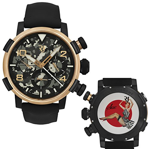 Romain Jerome Pinup DNA Gold WWII Sue Stripes Chronograph Auto RJ.P.CH.003.01