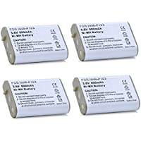 4 Pack of VTech i5871 Battery - Replacement VTech Cordless Phone Battery (800mAh, 3.6V, NIMH)