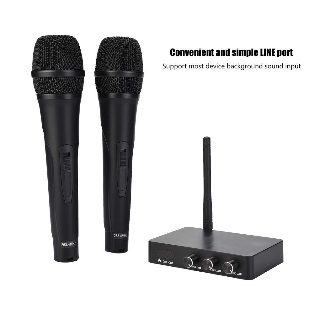 ASHATA Handheld Wireless Karaoke, Handheld Mini Home KTV Wireless WiFi Karaoke Machine with Two Microphone,Stereo Surrounding Sound Karaoke Machine for Home KTV by ASHATA (Image #9)