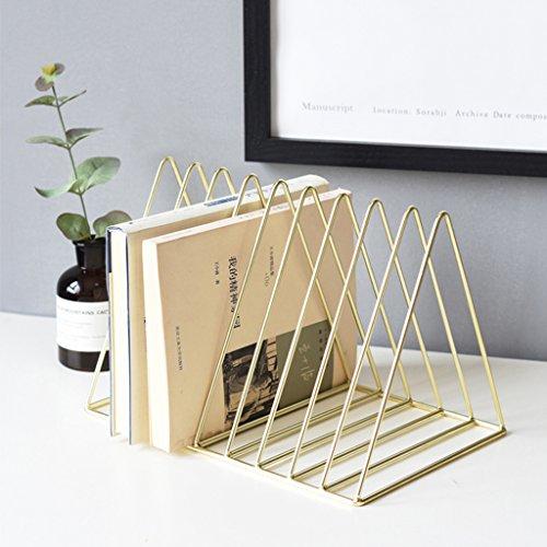 Prettyia Simple Stylish Metal Desktop Bookshelf, Book Stand Rack, Book Holder, Rose Gold by Prettyia (Image #9)'