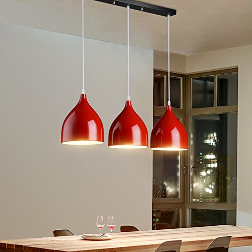 WYMBS Creative furniture decoration pendant light Aluminum hanging chandelier , red