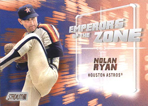 Topps Nolan Ryan Card - 2019 Topps Stadium Club Emperors of the Zone #EZ-5 Nolan Ryan Houston Astros Baseball Card