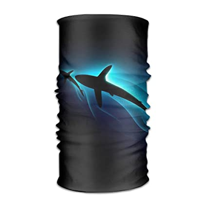 Owen Pullman Multifunctional Headwear Scalloped Harmmerhead Shark Head Wrap Elastic Turban Sport Headband Outdoor Sweatband