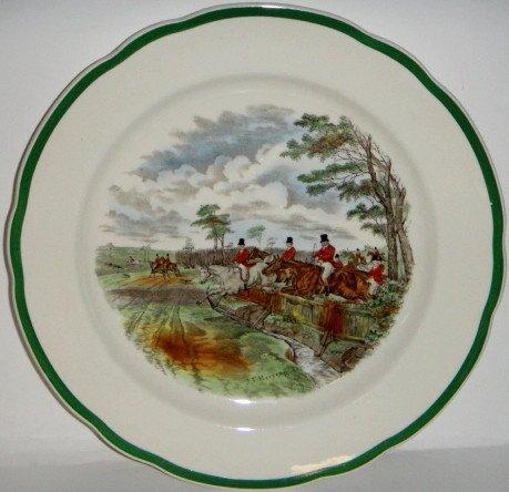 (Spode Herring Hunt Dinner Plate)