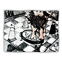 "Kess InHouse Theresa Giolzetti ""King Leo"" White Purple Pet Dog Blanket, 40 by 30-Inch"
