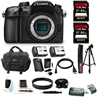 Panasonic LUMIX DMC-GH4K DMC-GH4KBODY GH4 16.05MP Digital Single Lens Mirrorless Camera (Body) + Sony 64GB SDXC Class 10 UHS-1 R40 Memory Card + Card Reader + Camera Gadget Bag + Replacement Battery and Charger + Deluxe Accessory Bundle Advantages Review Image