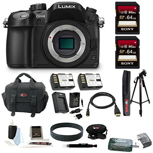 Panasonic LUMIX DMC-GH4K Mirrorless Camera Bundle (Deluxe Bundle)