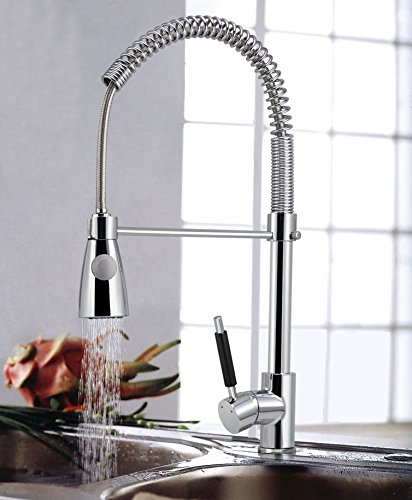 New Kitchen Faucet Swivel Spout Single Handle Sink Pull Out Spray