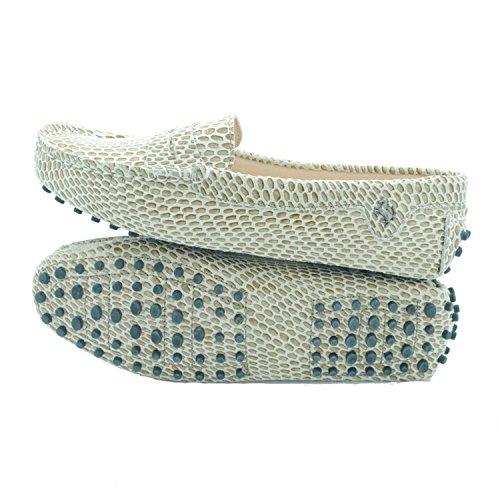 Minitoo comfortt Casual pour femme en cuir véritable à Chaussures bateau pour extérieur Multicolore - Rose - Pink Snake, 37 1/3