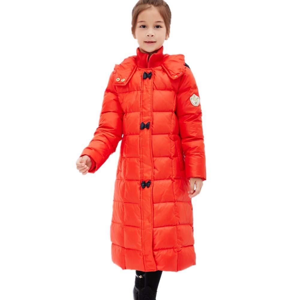 rouge 140cm YZ-HODC La Veste Mignonne de Filles d'enfants vers Le Bas a capitonné des vêteHommests Chauds et Coupe-Vent, Manteau d'hiver des Enfants idéaux