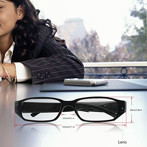Sappywoon spy hidden camera eyeglasses fashion loop for Portale camera
