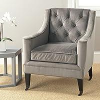 Safavieh Mercer Collection Sherman Arm Chair, Mushroom Taupe