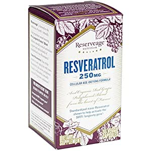 Reserveage - Resveratrol 250mg, Cellular Age-Defying Formula, 30 Capsule