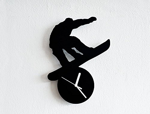 Snowboarding Silhouette - Wall Clock -
