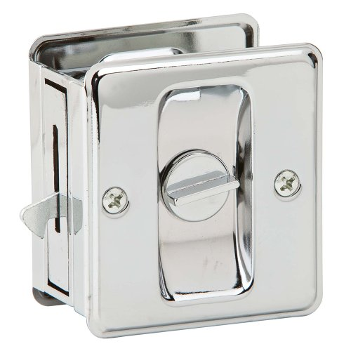 Ives by Schlage 991B26 Sliding Door Pull (Polished Chrome Latch)