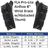 Florida Orthopedics Prolite 8'' Airflow Wrist Brace with Abducted Thumb, Black, Left Large/X-Large