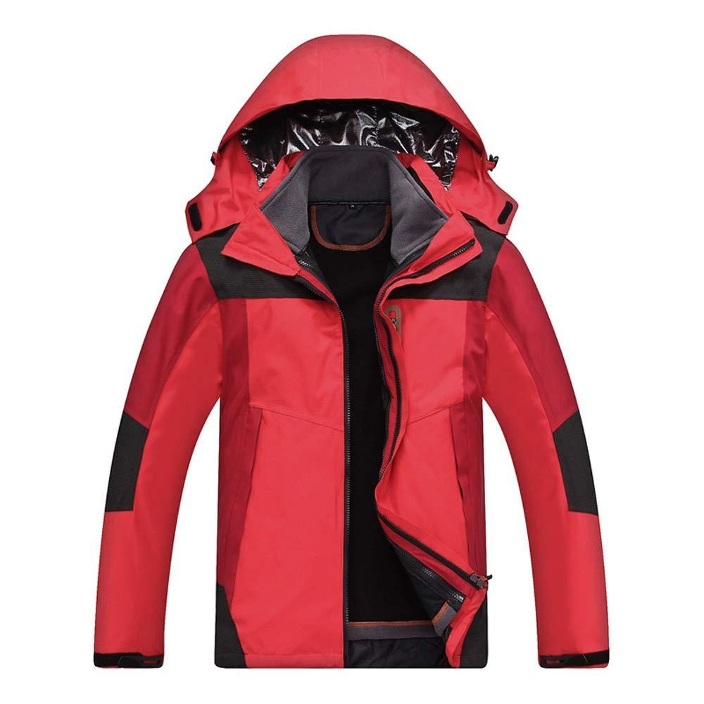 アウトドアスポーツスキージャケット スキージャケット屋外防水防風コートスノーボードマウンテンレインジャケット (色 : 赤, サイズ : S) 赤 Small
