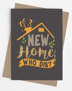 Original and funny housewarming card with envelope for party (perfect for men or women) | Fun congratulatory card for a new homeowner | Unique present for son, daughter, best friend