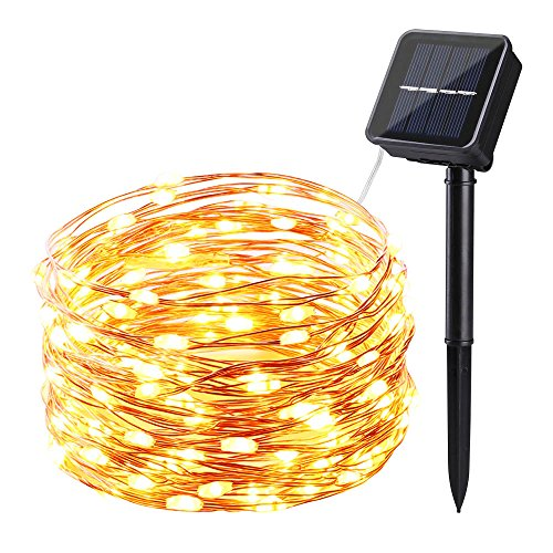 Icicle Starry Solar String Lights, 26 Ft 120 LED Waterproof Fairy Copper  Wire Lights For Christmas, Patio, Lawn, Garden, Wedding, Party And  Valentinesu0027s ...