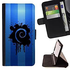 For LG G4 Case , Blue Swirl- la tarjeta de Crédito Slots PU Funda de cuero Monedero caso cubierta de piel