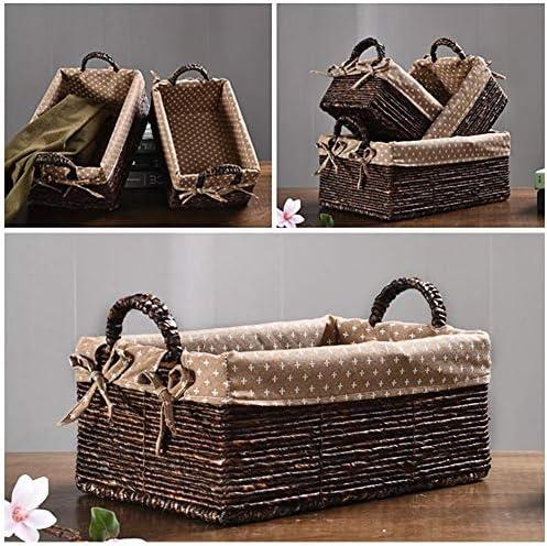 Scatola Regalo Ideale per Bagno mensola Decorativa Color Salotto o sotto Le Scale Soggiorno Xiangpian183 Cestini in Vimini Naturale S,M,L Cucina