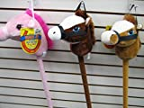 29 Stick Horse Giddy-up and Go Pony w/ Real Sound - Light Brown (color may very) by Polyfect