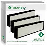 3 - GermGuardian Filter C, Part # FLT5000 & FLT5111, HEPA Air Purifier Filters. Designed by FilterBuy to fit GermGuardian AC5000 Series Air Cleaning System.