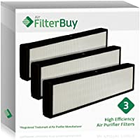 3 FilterBuy GermGuardian Filter C, Part # FLT5000 & FLT5111, Compatible HEPA Air Purifier Filters. Designed by FilterBuy to fit GermGuardian AC5000 Series Air Cleaning System.