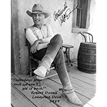 LONESOME DOVE AUTOGRAPHED PHOTO COPY & QUOTE OF ROBERT DUVAL DOVE-X10