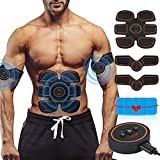 ROKOO Muscle Toner Ultimate Abs Stimulator with 10 Extra Gel Pads & E-Book | EMS Abdominal Toning Belt for Men & Women | Arm & Leg Trainer | Portable Office, Home & Gym Fitness Equipment